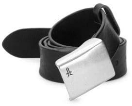 Frye Embossed Plaque Leather Belt