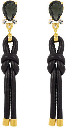 Henri Bendel Leather Wrapped Linear Earring