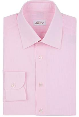 Brioni Men's Micro-Checked Cotton Dress Shirt