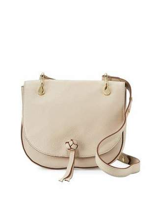 Elizabeth and James Zoe Leather Saddle Bag, Bone $395 thestylecure.com