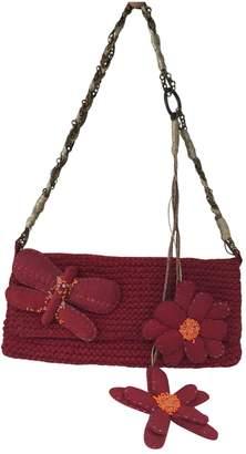 Kenzo Burgundy Wool Handbag