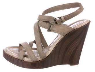 Proenza Schouler Suede Wedge Sandals