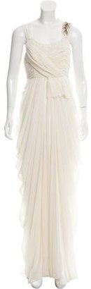 Vera Wang Sequin-Accented Draped Gown $800 thestylecure.com