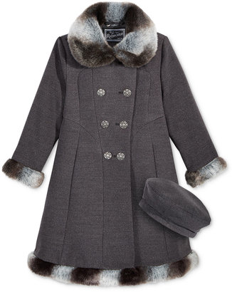 S. Rothschild 2-Pc. Textured Hat & Skater Coat with Faux-Fur Trim Set, Toddler Girls (2-6X) & Little Girls (2-7) $84.98 thestylecure.com