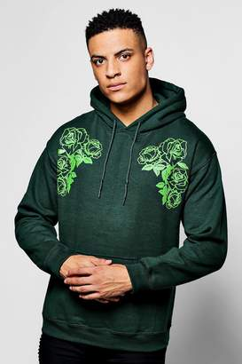 boohoo Twin Floral Print Over The Head Hoodie
