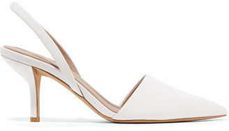 Diane von Furstenberg Mortelle Leather Slingback Pumps - White