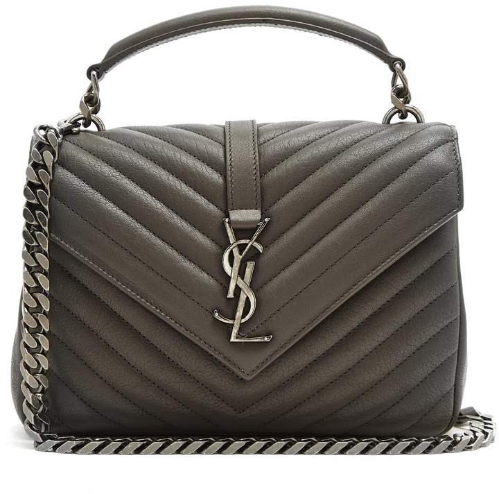 SAINT LAURENT Collège quilted leather cross-body bag