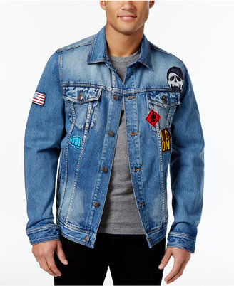 American Rag Men's Denim Patch Jacket, Created for Macy's $120 thestylecure.com