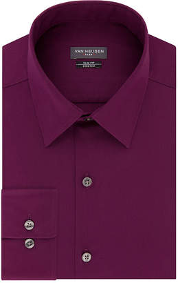 Van Heusen Flex Collar Extra Slim Fit Long Sleeve Twill Dress Shirt - Super Slim