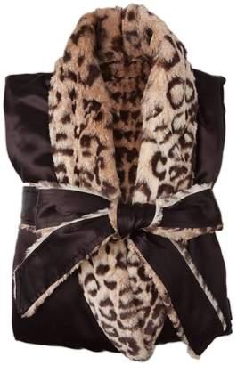 Little Giraffe Satin Leopard Robe