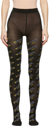 Fendi Black Mania Tights