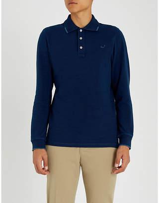 Jacob Cohen Logo-embroidered cotton-jersey polo shirt