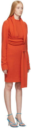 Bottega Veneta Orange Look 5 Wool Sweater Dress