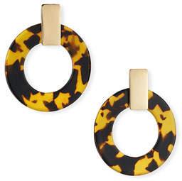 BaubleBar Torrie Resin Hoop Earrings