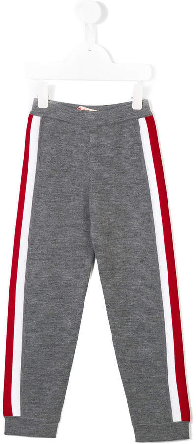 stripe detail track pants