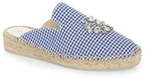 Patricia Green Gingham Glam Embellished Loafer Mule