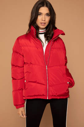 KENDALL + KYLIE Ardene Kendall & Kylie Red Puffer Jacket