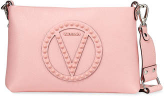 Mario Valentino Valentino By Vanille Rock Dollaro Studs Leather Shoulder Bag