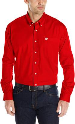Cinch Men's Classic Fit Long Sleeve Button One Open Pocket Solid Basic Shirt