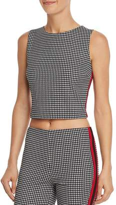 Aqua Track Stripe Houndstooth Cropped Top - 100% Exclusive