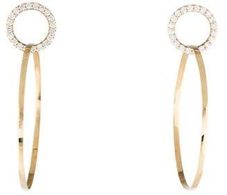 Lana 14K Diamond Circle Drop Earrings