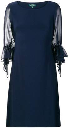 Lauren Ralph Lauren sheer puff sleeve shift dress