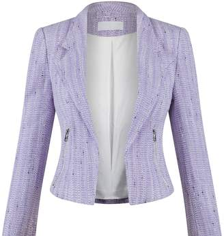 Charlotte London - The Royal Blazer In Violet and Silver