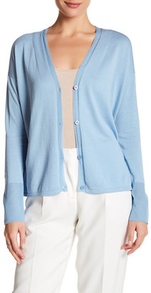 Lafayette 148 New York Sheer Trimmed Knit Cardigan $348 thestylecure.com