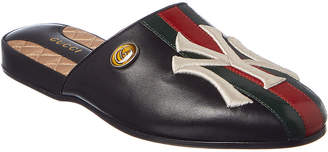 Gucci Ny Yankees Leather Slipper
