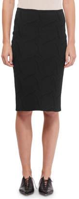 Roland Mouret Tropea Knit Slim Golden Skirt