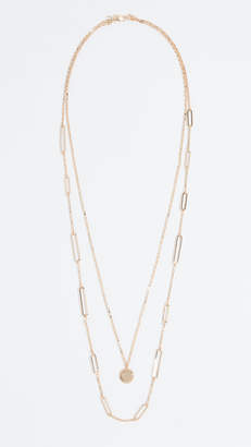 Rebecca Minkoff Two Row Medallion Layered Necklace