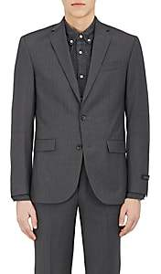 Barneys New York Men's Wool Two-Button Suit-Charcoal