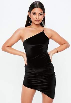 Missguided Petite Black Velour Dress