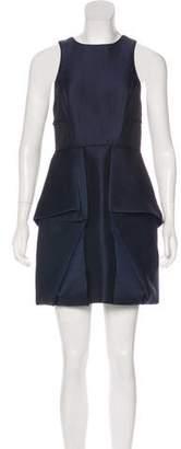 Tibi Pleated Mini Dress