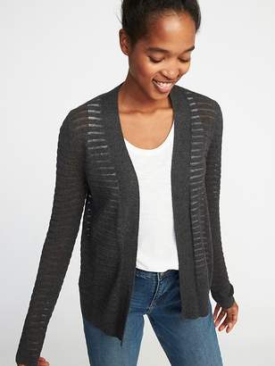 Old Navy Open-Front Textured Sweater for Women