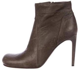 Rick Owens Distressed Ankle Boots