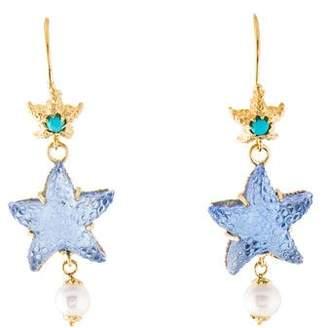 Tagliamonte 18K Pearl & Turquoise Marina Drop Earrings