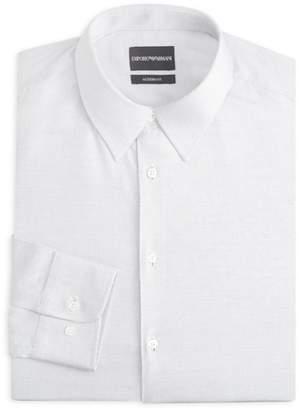 Emporio Armani Modern Fit Micro Dot Dress Shirt