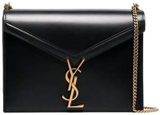 Saint Laurent Marceau Logo Clasp Leather Bag