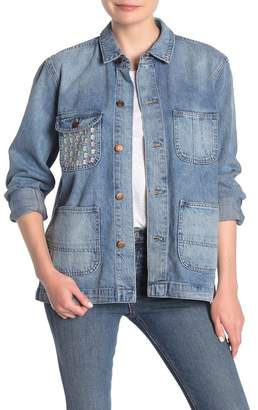 Madewell Embroidered Denim Chore Coat