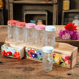 THE PIONEER WOMAN The Pioneer Woman Floral 7-Piece Spice Shelf Set