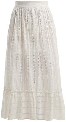 Zimmermann Melody Ladder cotton skirt