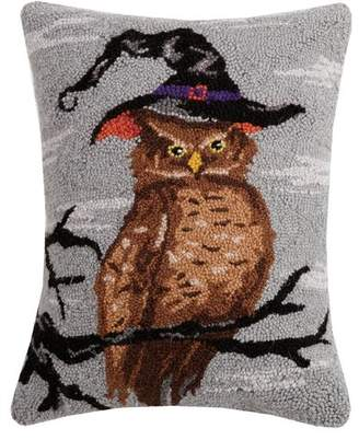 The Holiday Aisle Mckenny Halloween Owl Hook Wool Lumbar Pillow
