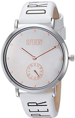 Superdry Women's Quartz Metal and Leather Casual Watch