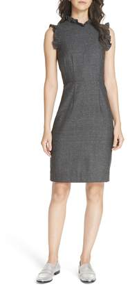 Rebecca Taylor Wool & Silk Herringbone Dress