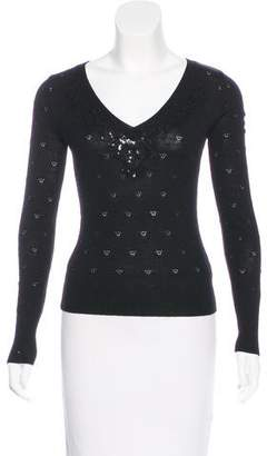 Betsey Johnson Embellished Wool Sweater