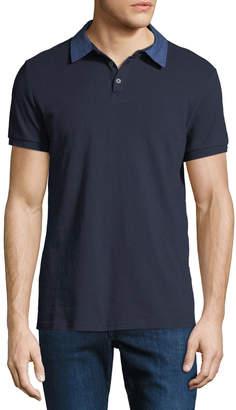 Slate & Stone Men's Denim-Collar Polo Shirt