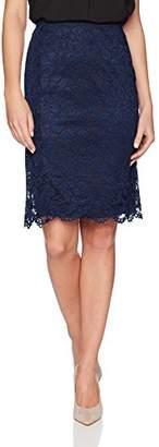 Lark & Ro Women's Lace Pencil Skirt