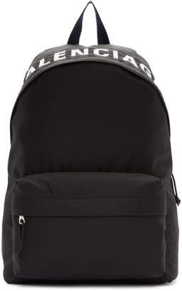 Balenciaga Black and Navy Wheel Backpack