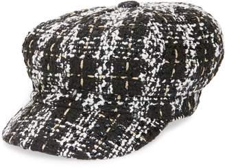 BP Plaid Tweed Baker Boy Cap
